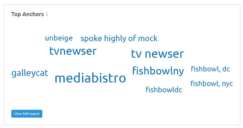 SEMRush Top Anchor Text Word Cloud